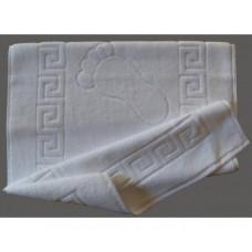 Полотенце «ОТЕЛЬ» белое 50*70 (коврик для ног) плотность 720гр. Турция